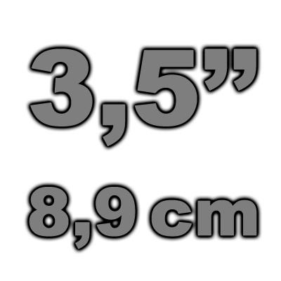 """8,9cm (3,5"""") Gehäuse"""