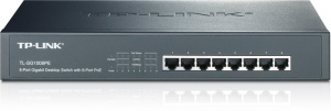 TP-Link 8-Port-Gigabit-Desktop-/Rackmount-PoE-Switch, 8x PoE