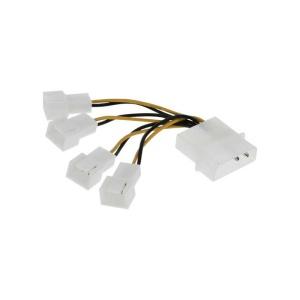 InLine Lüfter Adapterkabel, 4x Lüfter 3pol. Molex an 5,25
