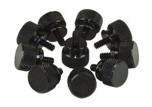 InLine Rändelschrauben schwarz für Gehäuse, 12mm, 10er Pack