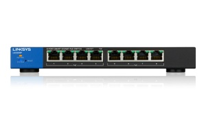 Linksys Switch LGS308P, 8-Port Smart Gigabit PoE+ Switch