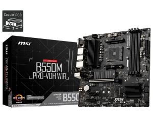 MSI B550M Pro-VDH WIFI (7C95-001R), AM4, AMD B550, µATX