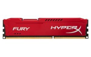 8 GB DDR3-RAM, 1600 MHz, Kingston HyperX Fury, red,