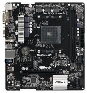 ASRock B450M-HDV, AM4, AMD B450, µATX
