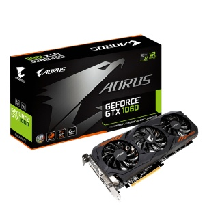 Gigabyte Aorus GeForce GTX 1060 6G 9Gbps Rev. 2.0, 6GB GDDR5
