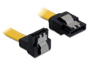 Delock S-ATA III Kabel, 0,3 m, gelb, abgwinkelt