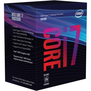 Intel Core i7-8700, 6x 3200 MHz, Coffee Lake, boxed