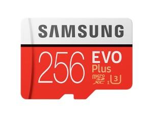 Samsung microSDXC EVO Plus 2017 256GB Kit, UHS-I U3/Class 10