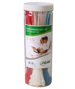 InLine Kabelbinder-Set, 300 Stück (59978C)