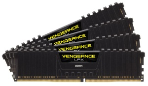 64GB Kit DDR4-RAM, 3000 MHz, Corsair Vengeance LPX schwarz