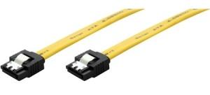 S-ATA III Kabel, 0,3 m, gelb, mit Verriegelung