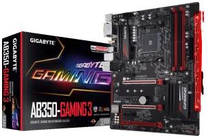 Gigabyte GA-AB350-Gaming 3, AM4, AMD B350, ATX