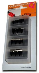 Serpa Kabelbündler - Kabelmanagement 4er Set - schwarz