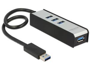 Delock USB 3.0 externer Hub 4 Port