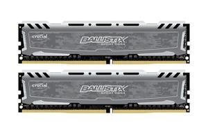 8GB Kit DDR4-RAM, 2400 MHz, Crucial Ballistix Sport LT grau