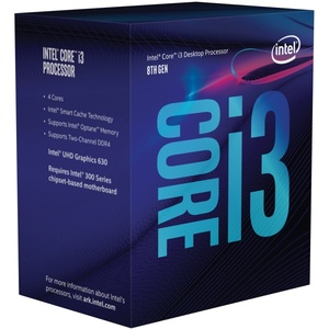 Intel Core i3-8100, 4x 3600 MHz, Coffee Lake, boxed