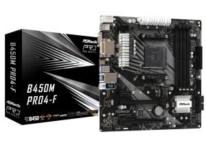 ASRock B450M Pro4-F, AM4, AMD B450, µATX