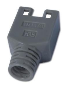 Hirose Knickschutztülle für Modularstecker TM11 hellgrau
