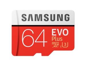 Samsung microSDXC EVO Plus 2017 64GB Kit, UHS-I U3/Class 10