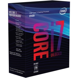 Intel Core i7-8700K, 6x 3700 MHz, Coffee Lake, boxed