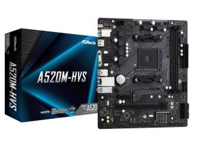 ASRock A520M-HVS, AM4, AMD A520, µATX
