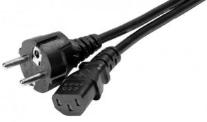 Netzanschlußkabel Kaltgerätebuchse IEC C13 , schwarz , 3 m