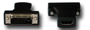 HDMI-DVI-Adapter, DVI-Stecker an HDMI-Buchse