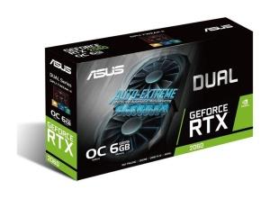 ASUS Dual GeForce RTX 2060 OC, DUAL-RTX2060-O6G, 6GB GDDR6,