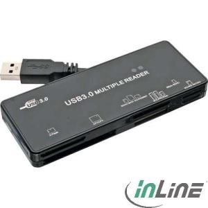 InLine All-in-1 Cardreader schwarz, USB 3.0, extern