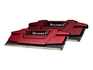 16GB Kit DDR4-RAM, 2400 MHz, G.Skill RipJaws V rot,