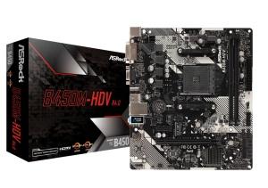 ASRock B450M-HDV R4.0, AM4, AMD B450, µATX
