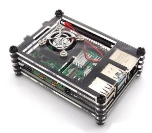 Gehäuse für Raspberry Pi 4 mit Lüfter, stackable,