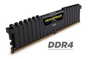 4GB DDR4-RAM, 2400 MHz, Corsair Vengeance LPX schwarz