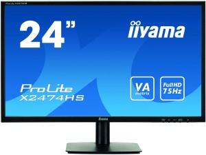 59,9cm 23,6 IIYAMA ProLite X2474HS, VGA, HDMI, DisplayPort