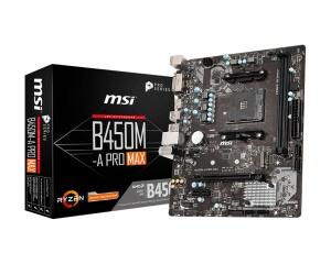 MSI B450M-A Pro Max, AM4, AMD B450, µATX