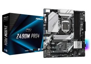 ASRock Z490M Pro4, Intel Z490 Chipsatz, µATX