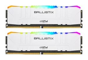 16GB Kit DDR4-RAM, 3200 MHz, Crucial Ballistix weiß RGB