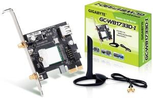 Gigabyte GC-WB1733D-I, PCIe x1, 1733 MBit, 2.4GHz/5GHz,