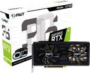 Palit GeForce RTX 3060 Dual OC, 12GB GDDR6,