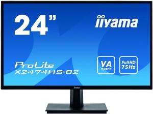 59,9cm 23,6 Iiyama ProLite X2474HS-B2, VGA, HDMI, DP,