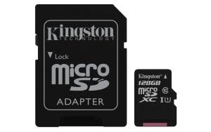 Kingston MicroSDXC 128GB Kit, UHS-I/Class 10 (SDC10G2/128GB)