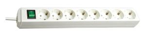 Brennenstuhl Eco-Line Steckdosenleiste mit Schalter 8-fach