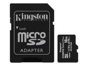 Kingston Canvas Select R100 microSDHC 16GB Kit, UHS-I U1,