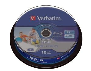 Verbatim Blu-Ray BD-R 25 GB 6fach, 10er Spindel, printable