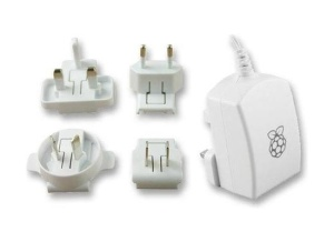 Netzteil für Raspberry Pi Type B+/B2/B3 USB 5V 2.5A mit Logo