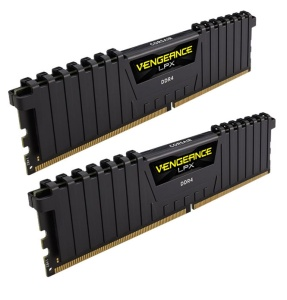 16GB Kit DDR4-RAM, 2400 MHz, Corsair Vengeance LPX schwarz