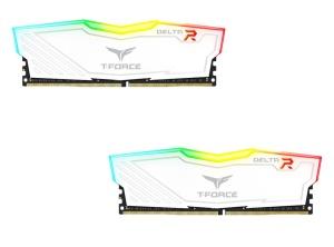 16GB Kit DDR4-RAM, 3000 MHz TeamGroup T-Force Delta RGB weiß