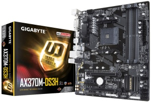 Gigabyte GA-AX370M-DS3H, AM4, AMD X370, µATX
