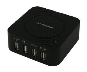 LC-Power Universal-USB-Ladegerät für bis zu 4 Geräte
