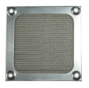 Cooltek Lüftergitter 120 mm mit Filter silber